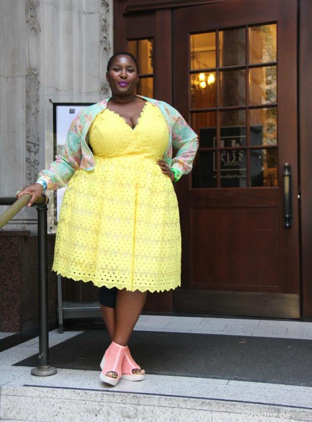 wow london plussize style yellow dress