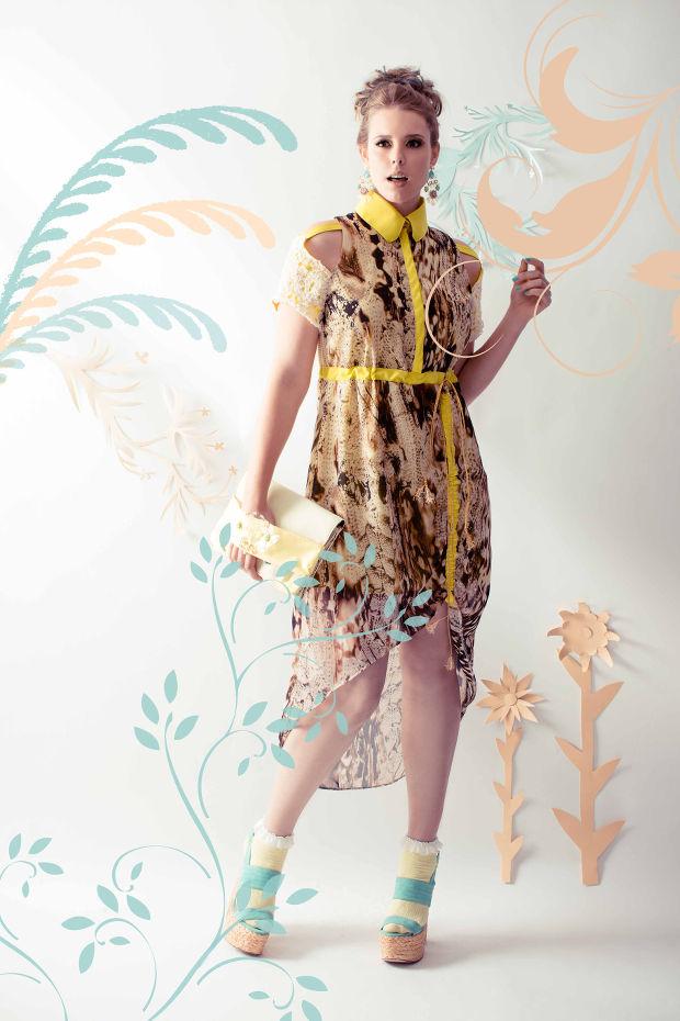 Nachwuchs Modedesign mable print kleid