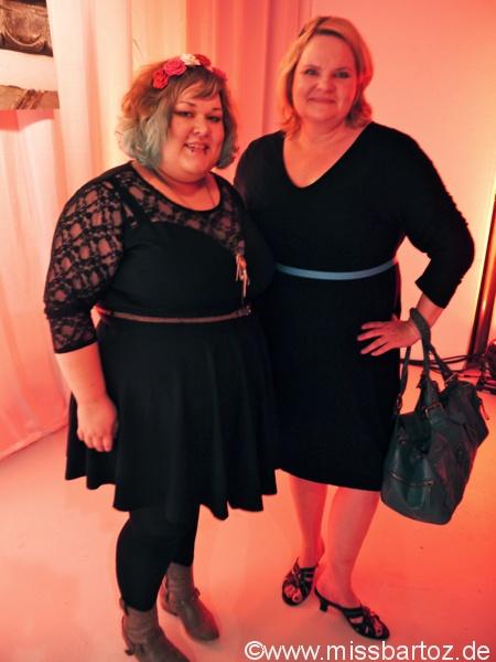 Profis unter sich. Bloggerin Katrin und ich.