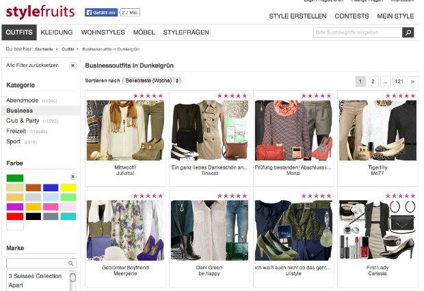 Stylefruits Business outfit gruen anteil