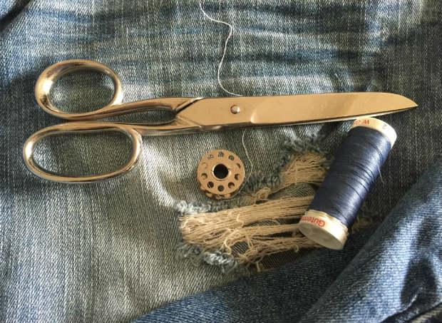 destroyed jeans in gro en gr en. Black Bedroom Furniture Sets. Home Design Ideas