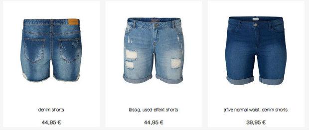 shorts uebergroesse junarose